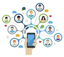 Smartphone envoyant des données personnelles